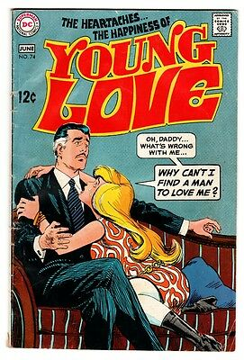 YOUNG LOVE #74 comic book 1969-DC ROMANCE-Daddy cover