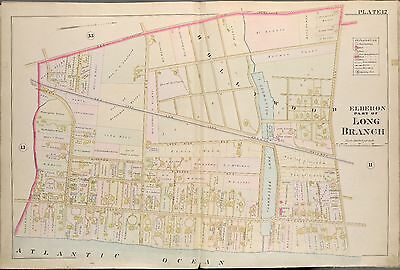 1889 Long Branch, Monmouth County, New Jersey Elberon Station & Casino Atlas Map