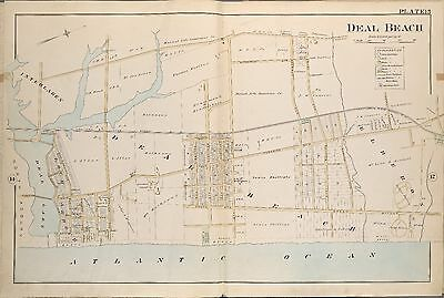 1889 Deal Beach Monmouth County New Jersey Interlaken, Hathaway House Atlas Map