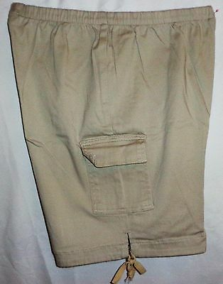 LOT of SHORTS L 2 Pr. Women's Pull On Pleated Cargo Belted Khaki Green Casual