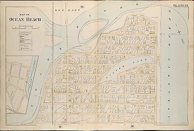 1889 Ocean Beach Monmouth County New Jersey Silver Lake River-Ocean Av Atlas Map