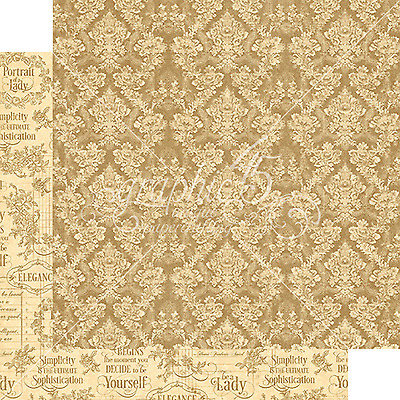 Graphic45 GRACE 12x12 Dbl-Sided Scrapbooking (2pc) Papers VINTAGE