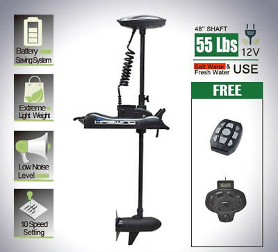 12V 55LBS Electric Bow Mount Trolling Motor + Hand & Foot Control CaymanB