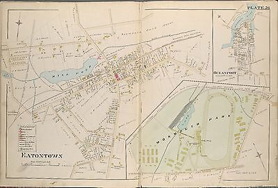 1889 Eatontown, Monmouth County, New Jersey Monmouth Park Race Track Atlas Map