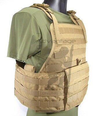 Eagle Industries MOLLE Plate Carrier w/Cummerbund - coyote 500D LG/XL U.S. Made
