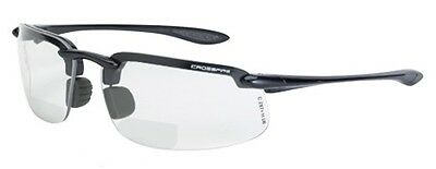 Crossfire Safety Glasses ES4 216412 Bifocal Reading Readers 1.25x Clear Lens