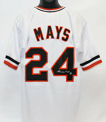 Willie Mays Autographed San Francisco Giants Throwback Jersey w/ Mays Holo COA
