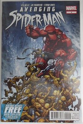 2012 Avenging Spider-Man #2 Polybagged Red Hulk -  Nm              (Inv3873)