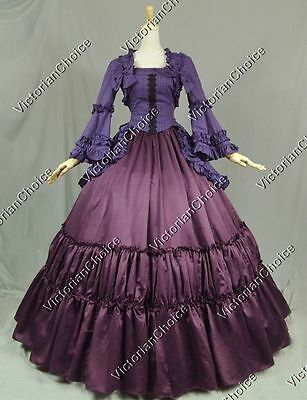 Victorian Fairy Maiden Witch Steampunk Dress Reenactment Halloween Costume 173
