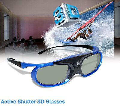 Universal Active Shutter 3D Glasses Rechargeable For DLP-Link 3D Projector BenQ