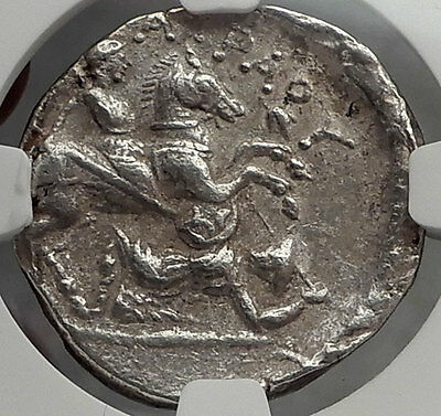 Patraos King of Paeonia 335BC NGC Certified Ch XF Silver Tetradrachm Coin i59817