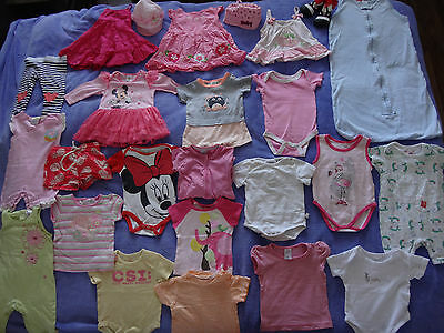 25 pcs of baby girl summer clothes (size 00) bulk lot 3-6 months