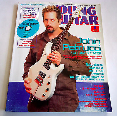 JOHN PETRUCCI DREAM THEATER YOUNG GUITAR JAPAN MAG Aug-2005 w/DVD Foo Fighters