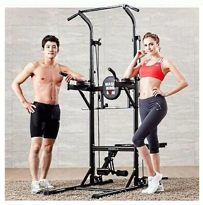 All In One Multifunction Vkr Pull Up Power Tower Chin Up Raise Station Bench Set