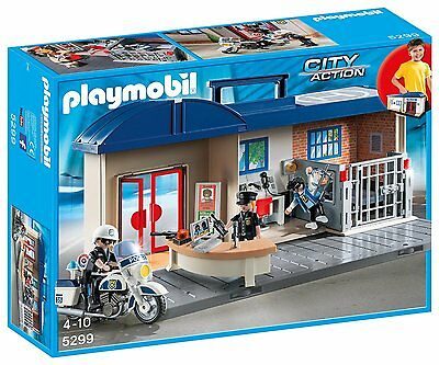 Playmobil 5299 City Action Take Along Police Station with Motorcycle