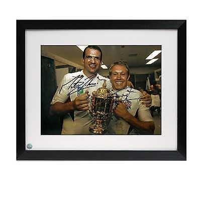 Framed Jonny Wilkinson And Martin Johnson Signed 2003 Rugby World Cup Photo