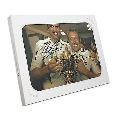 Jonny Wilkinson And Martin Johnson Signed 2003 Rugby World Cup Photo Gift Box