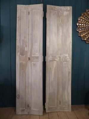Pair of 19th century French shutters with original white patina