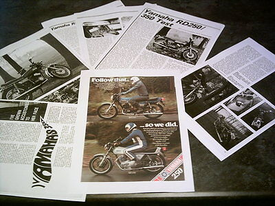 Yamaha Y5/RD - 350 -RD250  Sales Ad & Roads Test Facsimile On 11 Sheets 1970s