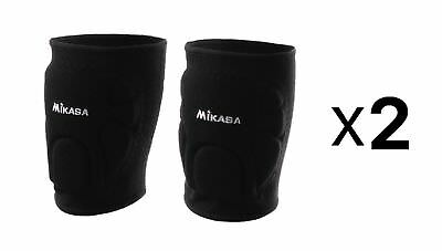 Mikasa Competition Knee Pads For Volleyball & Basketball - Youth, Black (2-Pack)