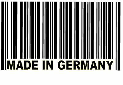 """Stickers Carrosserie Code Barre """" Made In Germany """" Spécial Voitures Allemandes"""