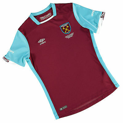Umbro 2016/17 West Ham United Junior Kids Home Kit Football shirt top Hammers