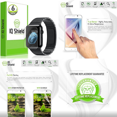 ANTI BUBBLE 6PK Screen Protector Film Accessories For iWatch 38MM APPLE WATCH 1