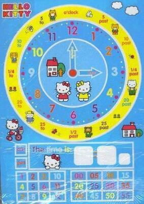 Hello Kitty Tell The Time Magnets - Kids School Clock Learning
