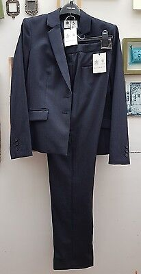 Austin Reed Puppy Dogtooth Navy Jacket&trouser 2 Piece Suit Sizes 8-18  £399.00