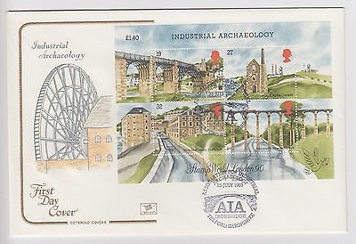 GB 1989 Cotswold F.D,C. Miniature Sheet  Industrial Archaeology AIA  Cancel