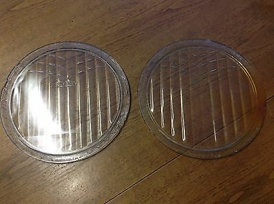LQQK Antique Vintage 1920's 30's pair FLINTEX headlamp HEADLIGHT LENS 8""