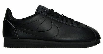 premium selection b8f9b ca2d4 NEW NIKE CLASSIC CORTEZ LEATHER CASUAL WOMENS SHOES SNEAKERS BLACK size 7 -  8.5