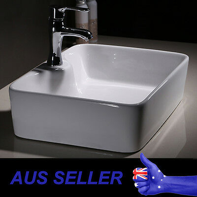 Modern Square Rectangle Bathroom Ceramic Basin Sink Above Counter Top