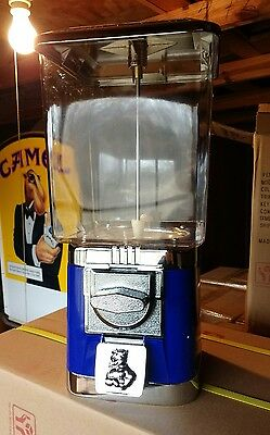 W- Commercial Rhino Blue $.25 Gumball vending machine