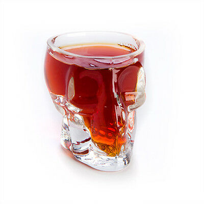 Skull Shot Glasses - Set of 2 Shooters Drinking Party Glass Mens Gift Alcohol Sp