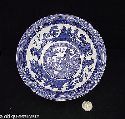 Large  Blue Willow   Johnson Brothers  8 1/4 Open Serving Bowl Or Vegetable