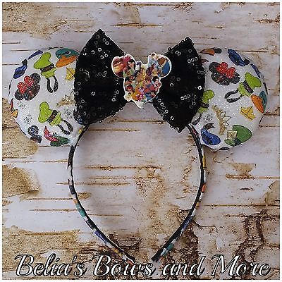 My Disney Trip....Handmade Mouse Ears.....glitter finish...toddlers size