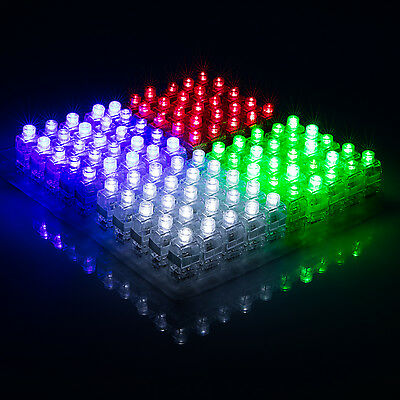 100pcs LED Light Up Finger Rings Glow Kids Children Party Favors Glow Toys