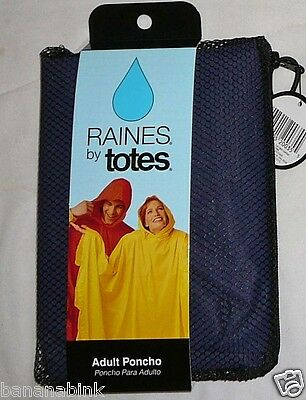New Raines Totes Adult Poncho Lightweight Pullover Rain One Size Color OS