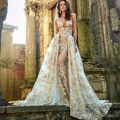 New lace Long Formal Evening Dress Celebrity Cocktail Party Prom Wedding Gown