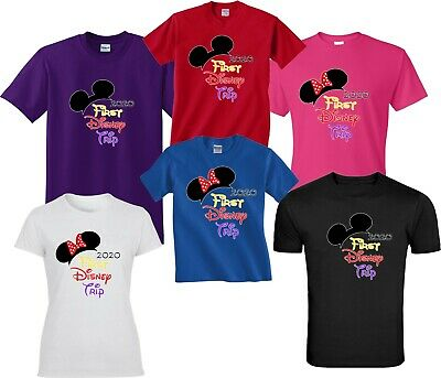 2019 DISNEY FAMILY VACATION my first trip Tshirt  MINNIE, MICKEY ears