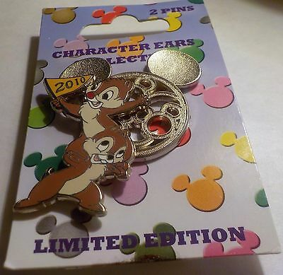 WDW - Character Ears Collection Chip 'n Dale LE 1500 Pin.