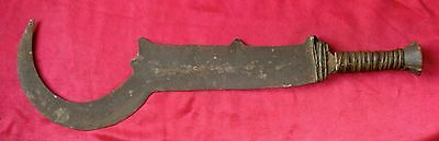 Antique Old African Ngala/Ngombe Executioner's Hand Forged Sword