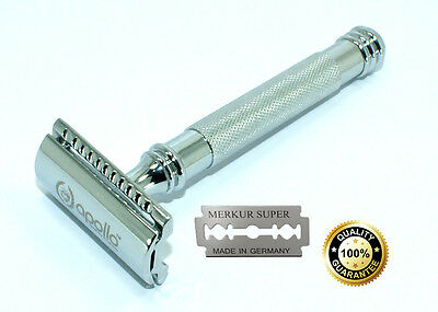 Men's Classic Traditional Double Edge Shaving Safety Razor Shaver Blades