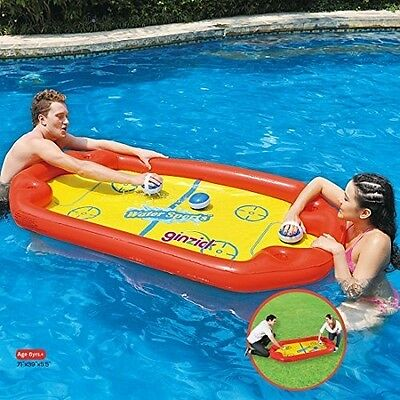 Inflatable Pool Swimming Floats Kids Summer Water Fun Hockey Game Raft Party Toy
