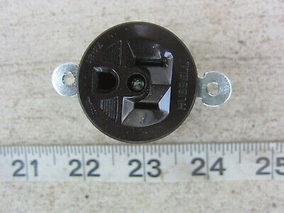 Hubbell HBL 5258 15A 125V Short Strap Straight Blade Receptacle 5-15R, New