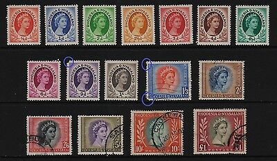 Rhodesia and Nyasaland - 1954 set, complete, cat. $ 69.75
