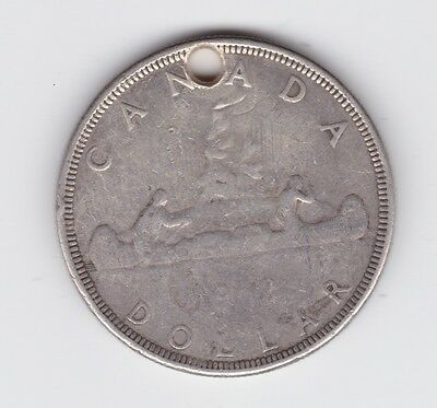 1962 Canada Canadian Dollar Silver Coin pendant  L-143