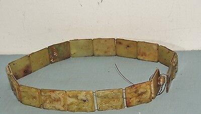 Antique Carved Chinese Dragon Belt / Jade ? Soapstone ?