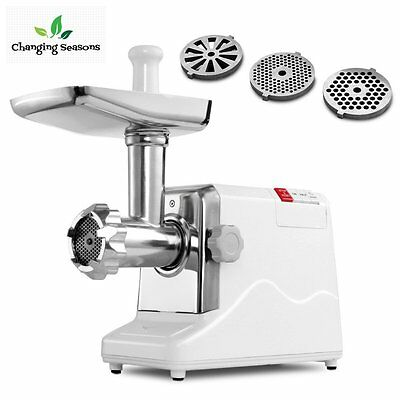 Meat Grinder Electric 2.6 HP 2000 Watt Heavy Duty Stainless Steel Attachment